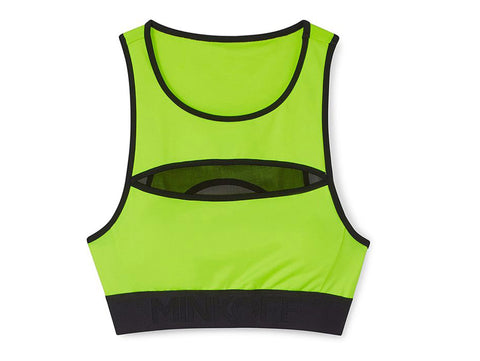 REBECCA MINKOFF Women's Neon Green & Black Irina Sports Bra $78 NWT