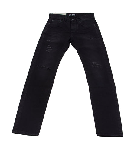 BLK DNM Men's Sutton Black Selvedge Slim Tapered Jeans #BMMDJ17 $215 NWT