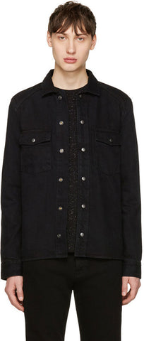 BLK DNM Men's Hicks Black Jeans Shirt 48 #BMMDP04 $215 NWT
