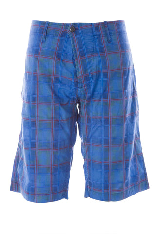 BLUE BLOOD Men's Journey French Navy Madras Check Shorts MBLS0762 $250 NWT