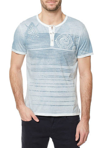 Buffalo David Bitton Men's Mirage Kalock Henley T-Shirt BM19491 $39 NEW