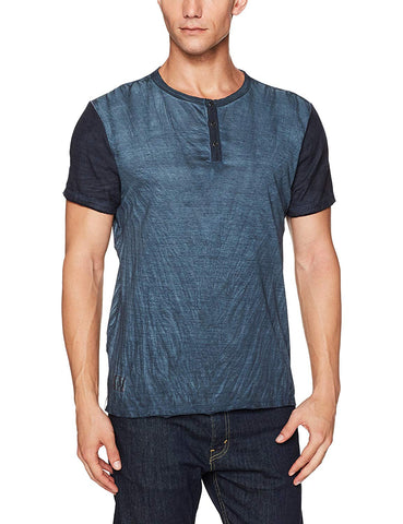 Buffalo David Bitton Men's Indigo Kamink Henley T-Shirt BM19492 $39 NEW
