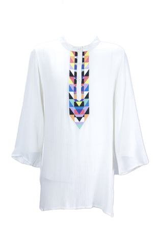 MARA HOFFMAN Kid's Embroidered White Cover-up Tunic Dress 95640 $82 NEW