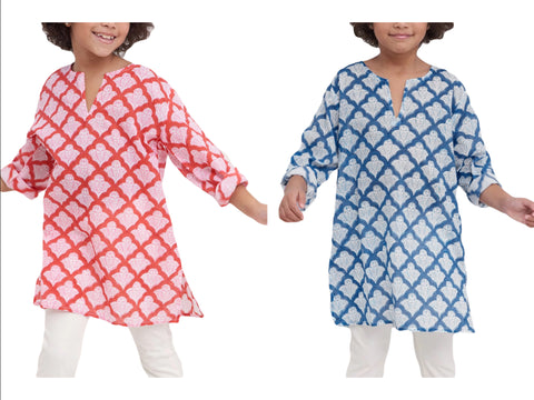 ROBERTA ROLLER RABBIT Girls Jemina Kurta $50 NEW