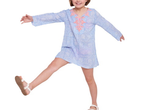 ROBERTA ROLLER RABBIT Girls Blue Moon Meena Kurta $70 NEW