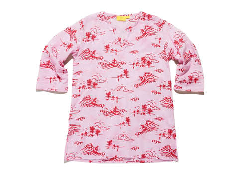 ROBERTA ROLLER RABBIT Girls Mauve Surf Toile Kurta $50 NEW