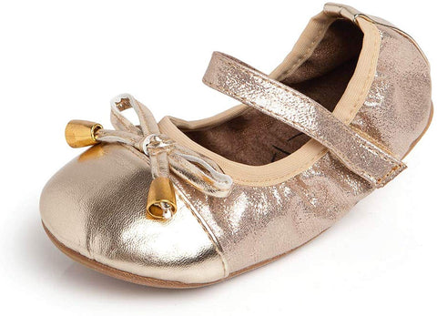 TALARIA Toddler Girl's Champagne Premium Littles Flats with Strap $37 NEW