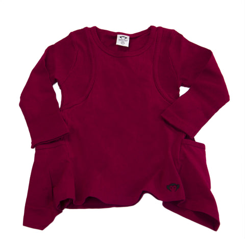APPAMAN Little Girls' Berry Shark Bite Tunic $42 NWT