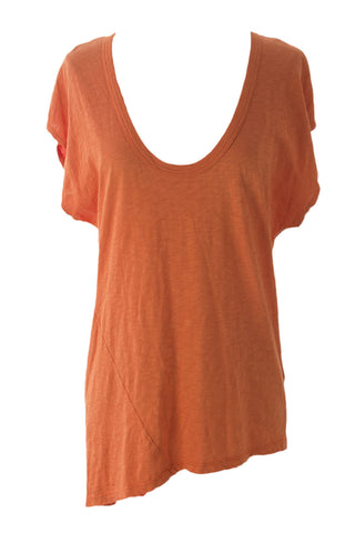 VELVET by Graham & Spencer Women's Spice Hi-Low Assymetric T-Shirt S $96 NEW