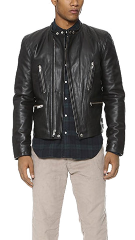 BLK DNM Men's Black Leather Jacket 20 $1495 NWOT