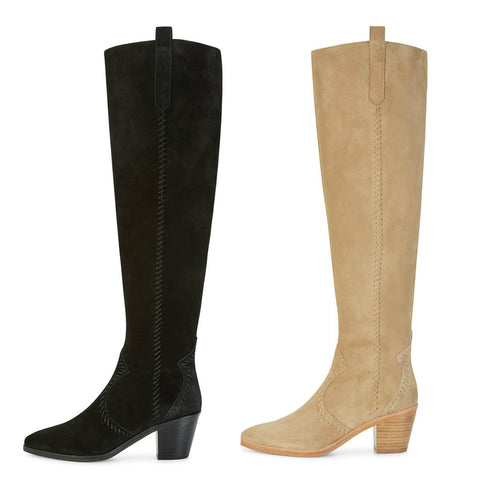 REBECCA MINKOFF Women's Lizelle Suede Over-The-Knee Boots $395 NIB