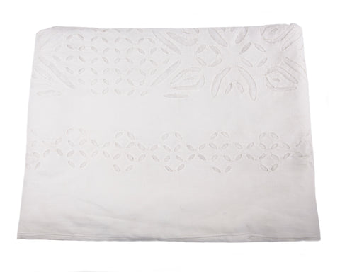 ROBERTA ROLLER RABBIT White Cotton Cut Out Bedcover in King $325 NEW