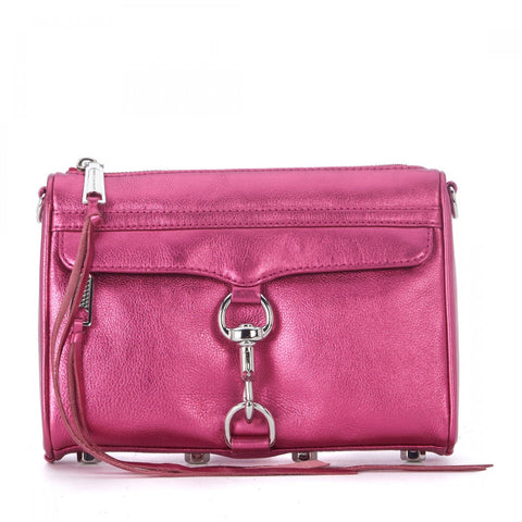 REBECCA MINKOFF Fuschia Mini MAC Clutch Cross-body Bag $195 NEW