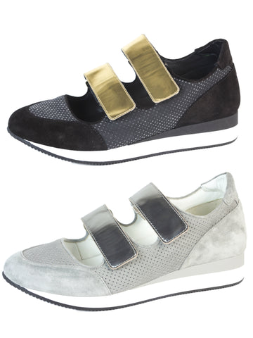 MAX MARA Women's MM34 Leather Velcro Sneakers $495 NIB
