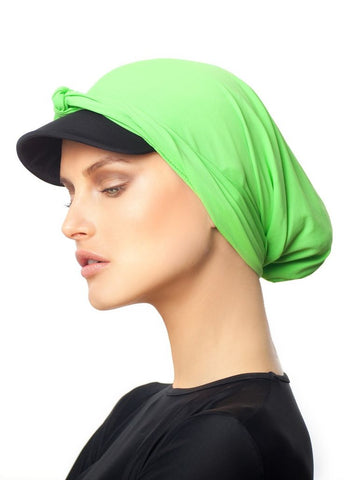 MODEST SEA Ella Green Burkini Cap Sz M 11036 $43 NEW