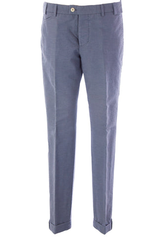 MANUEL RITZ Men's Steel Blue Flat Front Trousers 113P1909LX Sz IT 50 $188 NEW