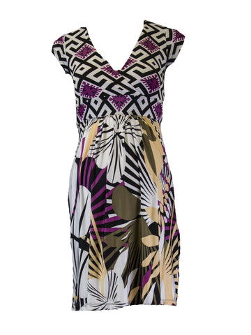 OLIAN Maternity Women's Geometric Floral Dress $130 NWT