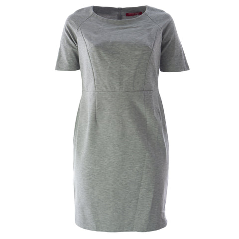 MARINA RINALDI Women's Grey Obelo A-Line Dress $305 NWT