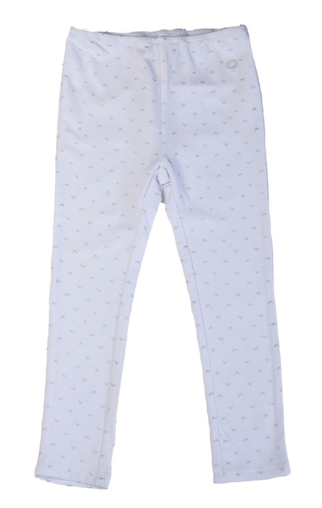 EGG BY SUSAN LAZAR Baby Girl's White Full Length Legging P5JE2820 $34 NEW