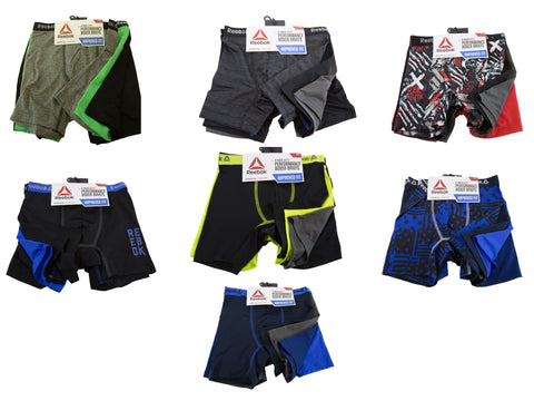 REEBOK Boy's 4 Pack Performance Boxer Briefs NEW