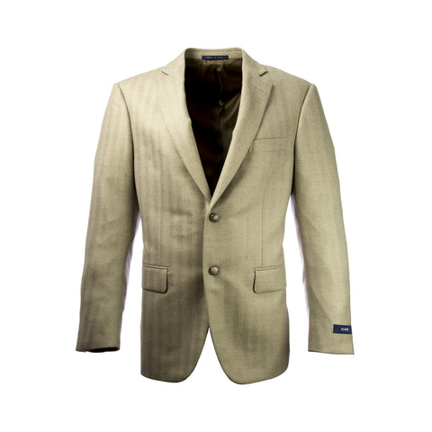 PAL ZILERI Biege Herringbone Two Button Blazer 32L7222 Sz IT 50R $1,540 NWT