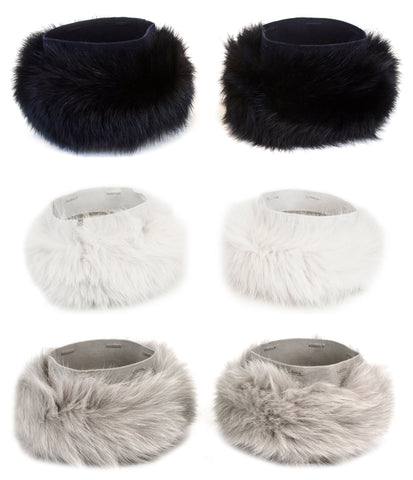 MAX MARA Women's Pechino Fox Fur Cube Collection Cuffs One Size NWT