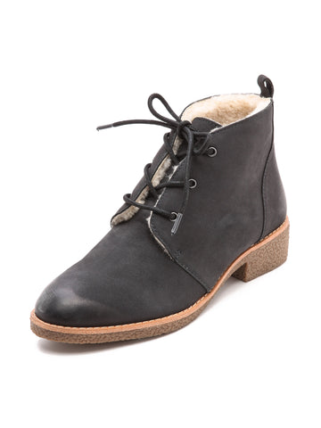 REBECCA MINKOFF Women's Persys Shearling Lace Up Booties $295 NIB