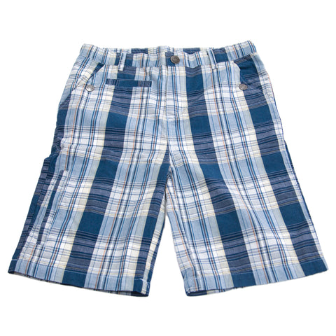 APPAMAN Big Boys' Ocean Blue Plaid Board Shorts $42 NWT