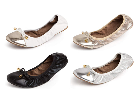 TALARIA Women's Premium Foldable Flats with Pouch $42 NEW