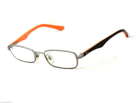Ray-Ban Kid's Silver/Black Metal Eyeglass Frames RB1027-4008 45mm $99 NEW