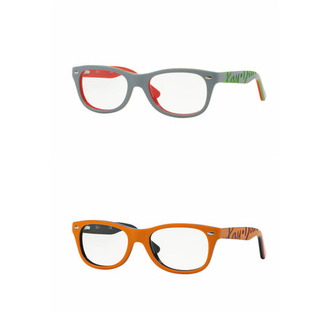 Ray-Ban Kid's Square Acetate Eyeglass Frames RB1544 $100 NEW