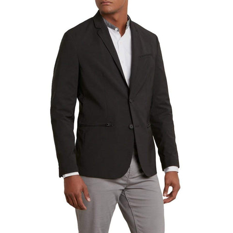 Reaction Kenneth Cole Mens Black Dry Stretch Blazer $159 NEW