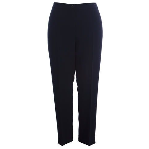 MARINA RINALDI Women's Navy Ravel Straight Leg Dress Pants $350 NWT