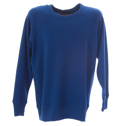 OLASUL Men's Navy Reversible Crewneck Sweatshirt $130 NEW