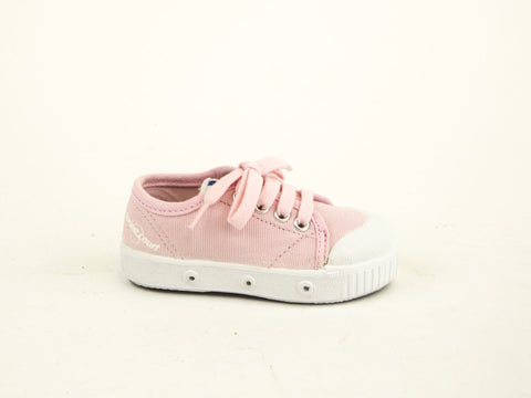 SPRING COURT Toddler Girls Pink Canvas GE1 Lo Cut Shoes Sz US 5/ EU 20 NEW