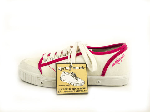 SPRING COURT Big Kid Girls Canvas GE1 Retro Shoes Sz US 3.5/ EU 35 NEW