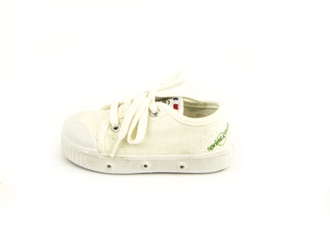 SPRING COURT Toddler Boys White Canvas GE1 Lo Cut Shoes Sz US 5/ EU 20 NEW