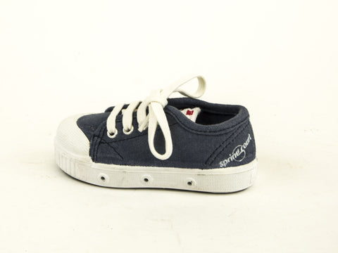SPRING COURT Toddler Boys Blue Canvas Overdye GE1 Lo Cut Shoes