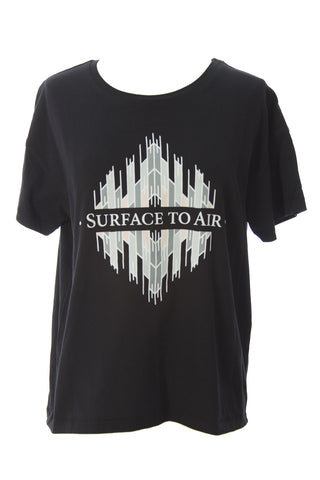 SURFACE TO AIR Women's Black Sam Tee $190 NEW