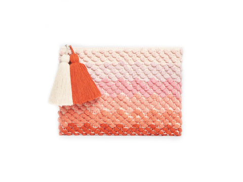 ROBERTA ROLLER RABBIT Women's Coral Ombre Skye Clutch $75 NEW