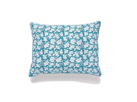 ROBERTA ROLLER RABBIT Teal Succulent Quilted Sham Set Fitted Standard
