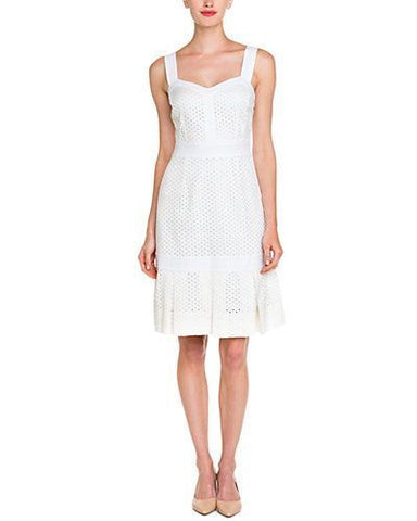 Tory Burch Women's Berdine White Eyelet Dress Sz 6 $395 NEW
