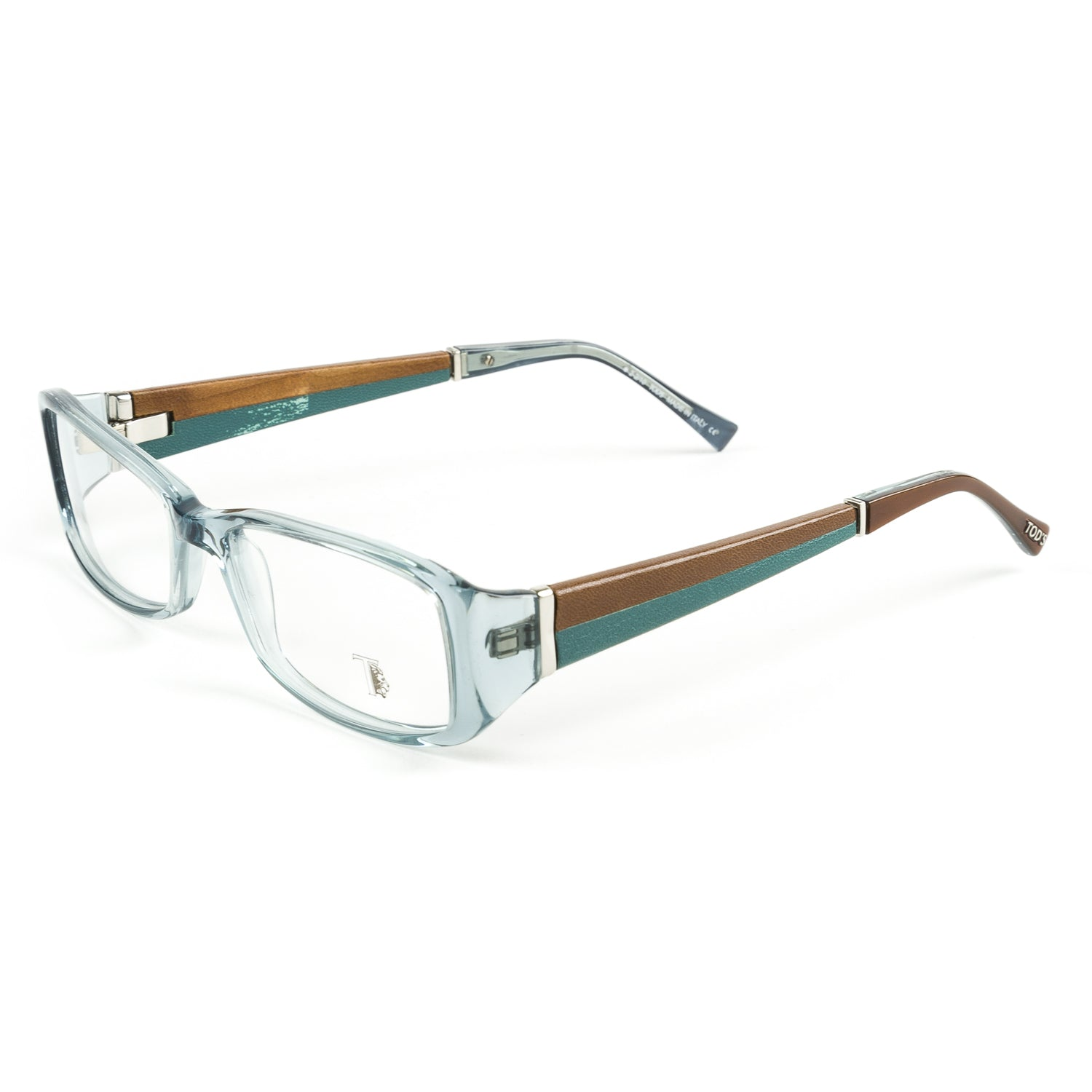 TOD\'S Transparent Turquoise Eyeglass Frames TO5011-087 NEW – Walk ...