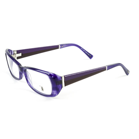 TOD'S Shiny Purple/Black Oval Full Rim Eyeglass Frames TO5012-081 NEW