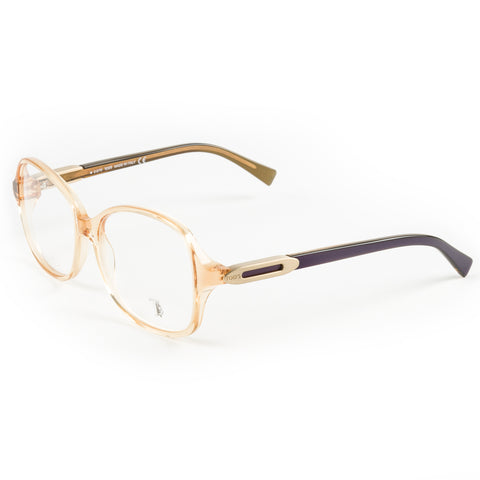 TOD'S Transparent Peach Oversized Eyeglass Frames TO5017-044 NEW