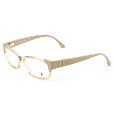 TOD'S Transparent Champagne Rectangular Eyeglass Frames TO5037-047 NEW