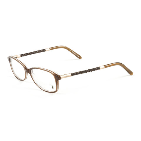 TOD'S Dark Havana Braided Temple Eyeglass Frames TO5054-052 NEW