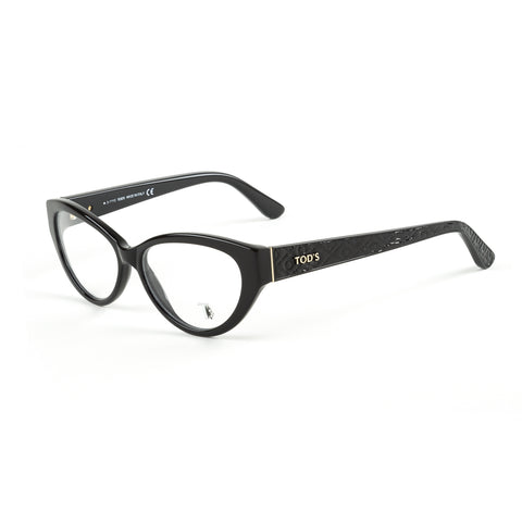 TOD'S Shiny Black Cateye Eyeglass Frames TO5098-001 NEW