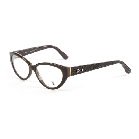 TOD'S Dark Brown Cateye Eyeglass Frames TO5098-050 NEW