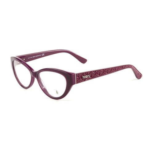 TOD'S Fuscia Cateye Eyeglass Frames TO5098-077 NEW